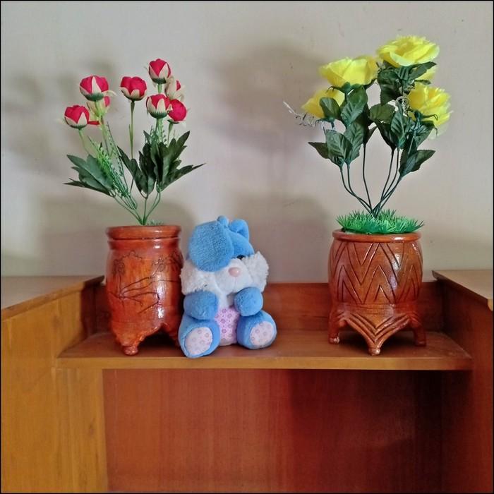 Pot Bunga Bambu Vas Bunga Hand Made Vb07 Shopee Indonesia