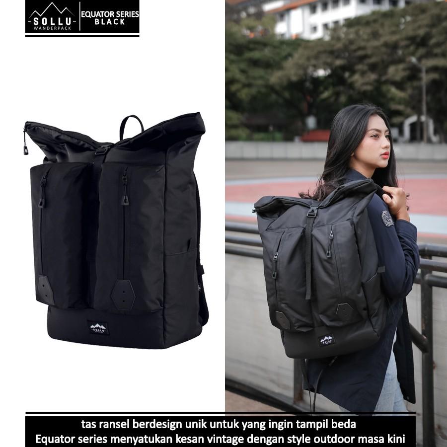 Mth Bags Meru Black Tas Ransel Punggung Semi Carrier Esgotado Mochilo Primeiro Laptop Keren Ampamp Kece Unisex Shopee Indonesia