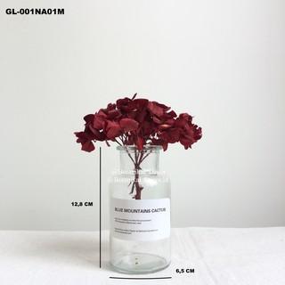 glass flower vas kaca bening transparan pot bunga gelas