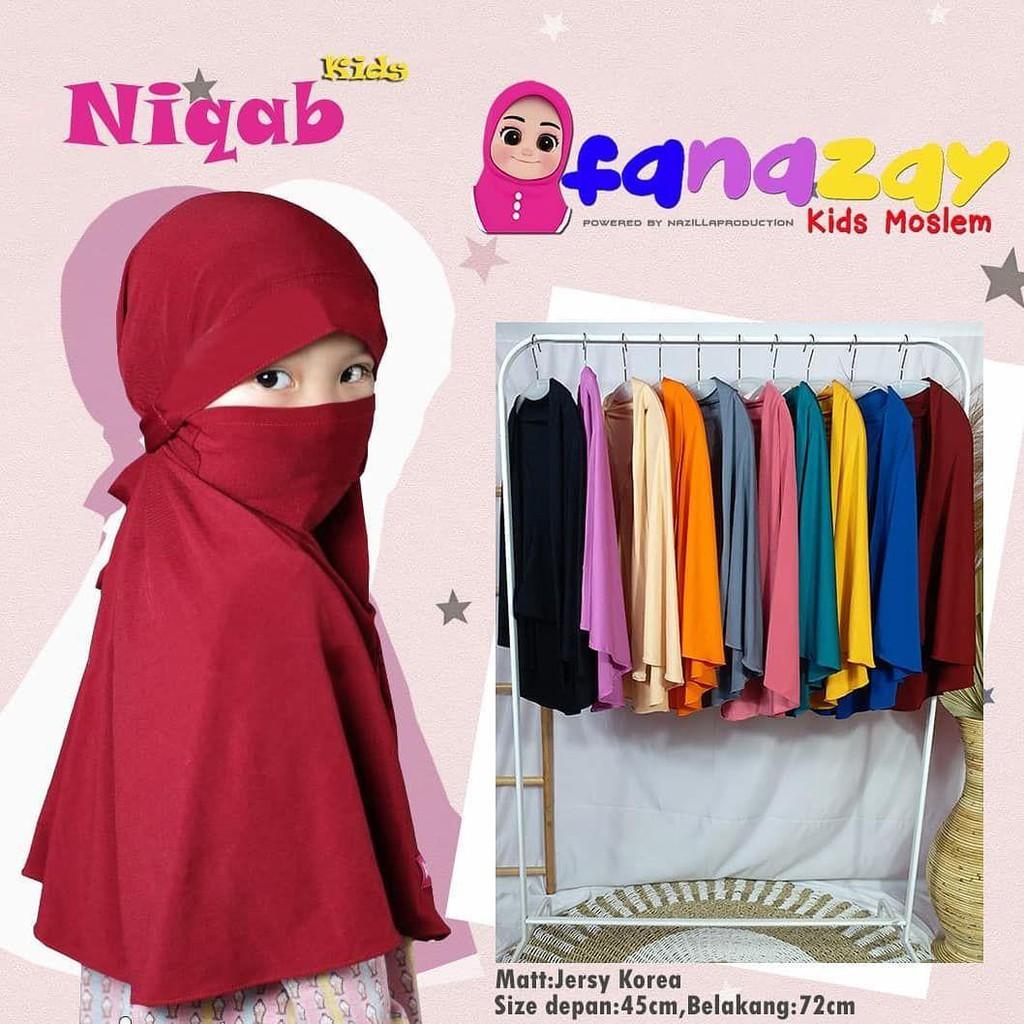 Hijab Niqob Anak Kids terbaru hijab anak / kerudung anak lucu / kerudung  anti corona