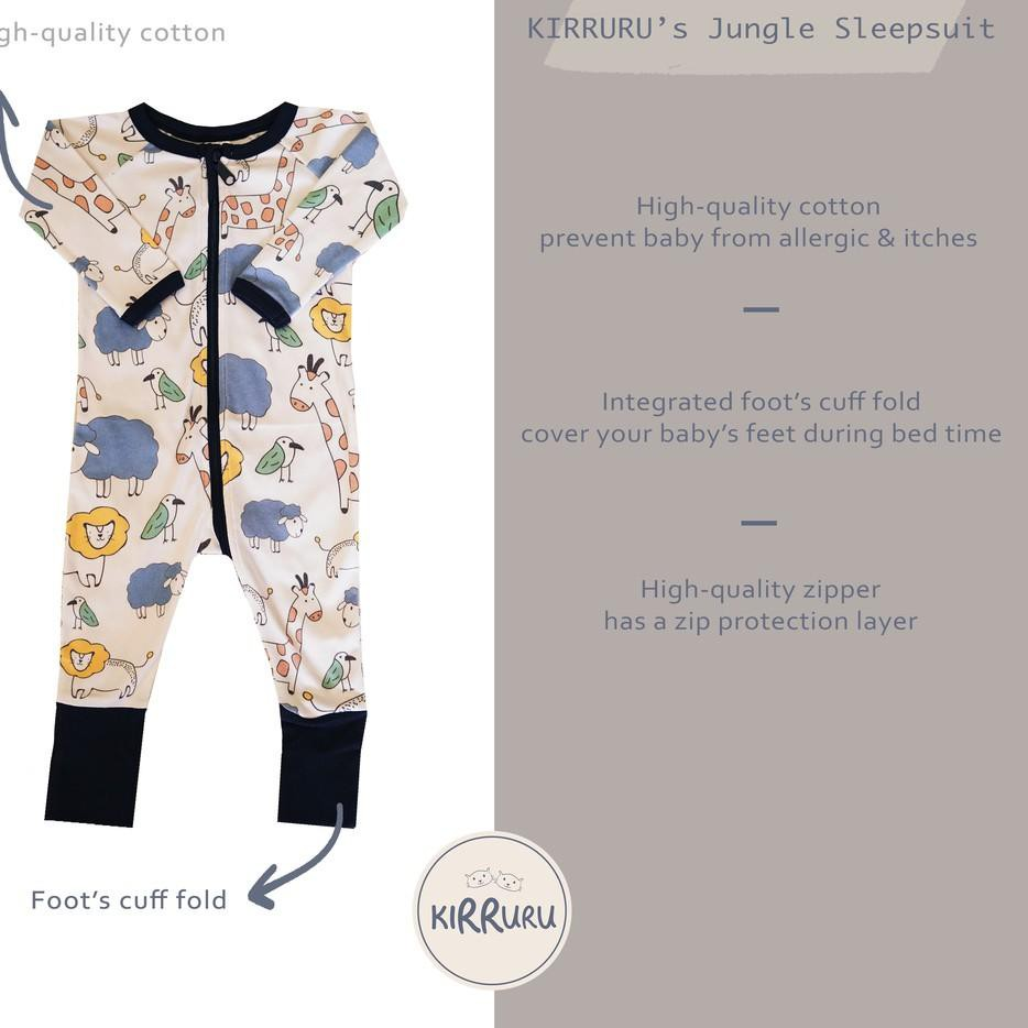 Up Kirruru S Jungle Sleepsuit Baju Bayi Sleepsuit Anak ज