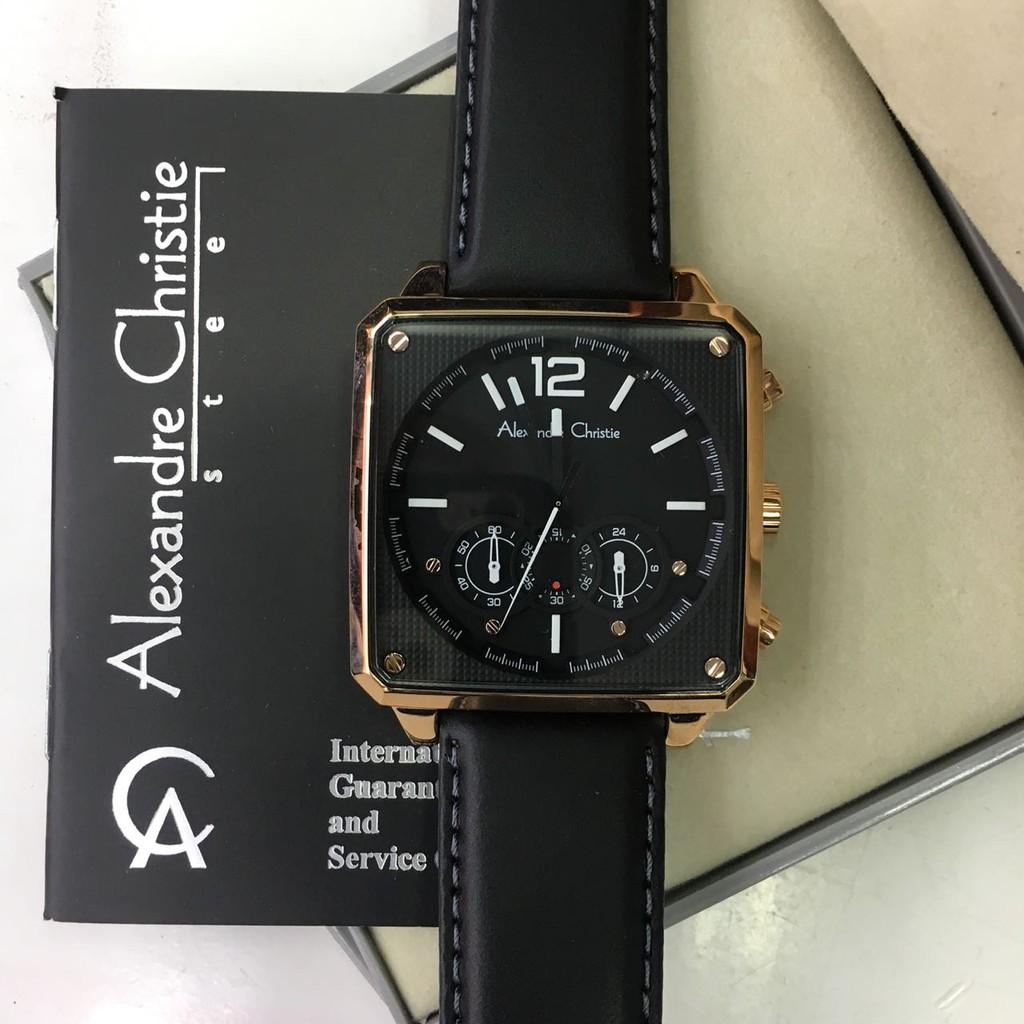 Alexandre Christie Ac 6486 Mc Full Black Silver Original Shopee 6141 Indonesia