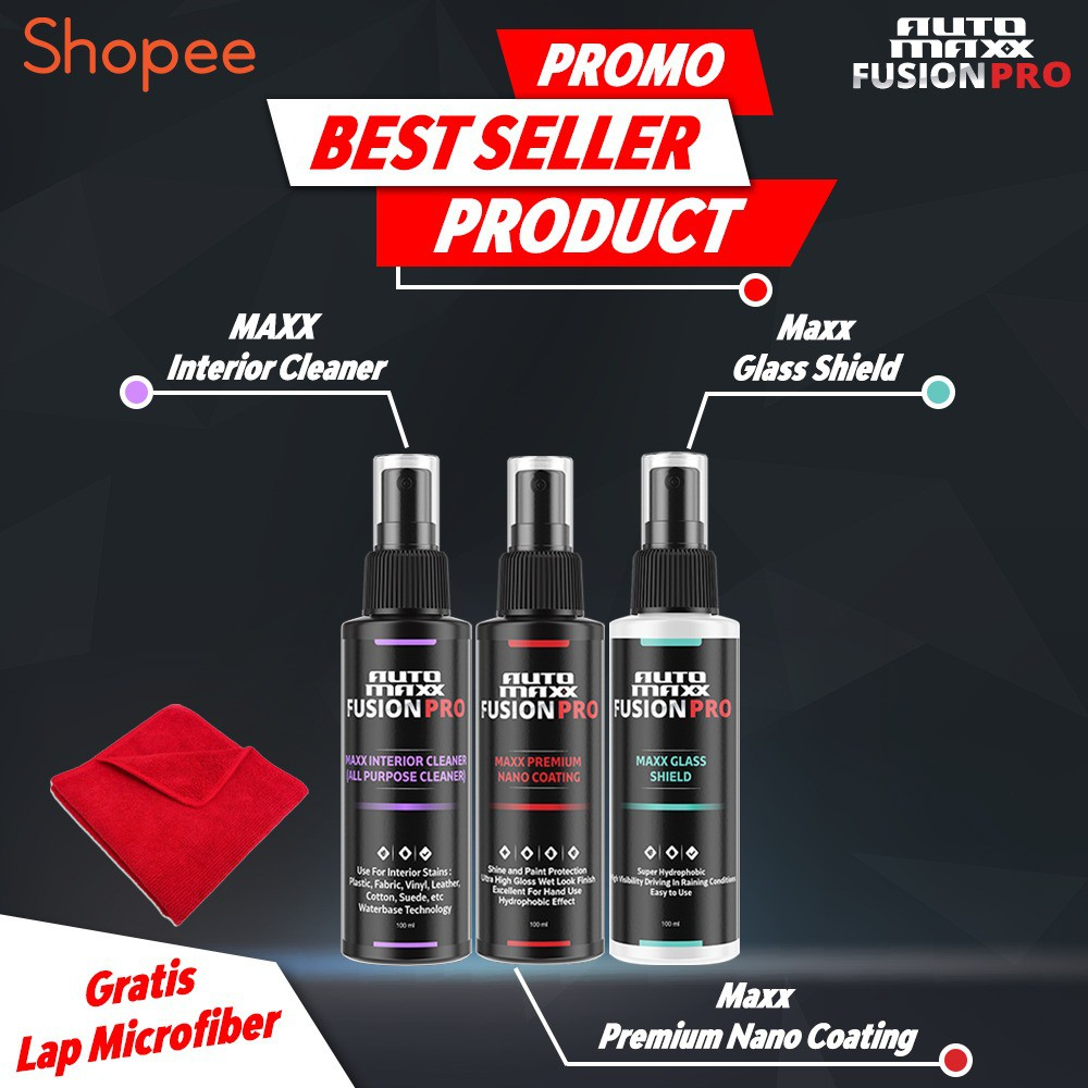 Promo Paket Automaxx Premium Auto Care Untuk Body Kaca Interior Nano Coating Glass Shield Apc Shopee Indonesia