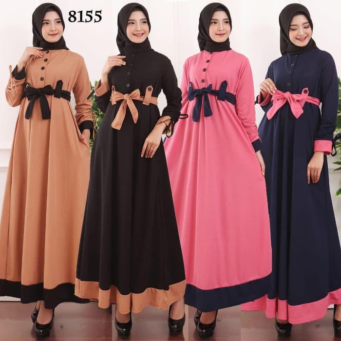 Muslimore Baju Muslim Wanita Gamis Murah Online Magenta Polos S Ry718 Baju Gamis Wanita Gamis Busui Shopee Indonesia