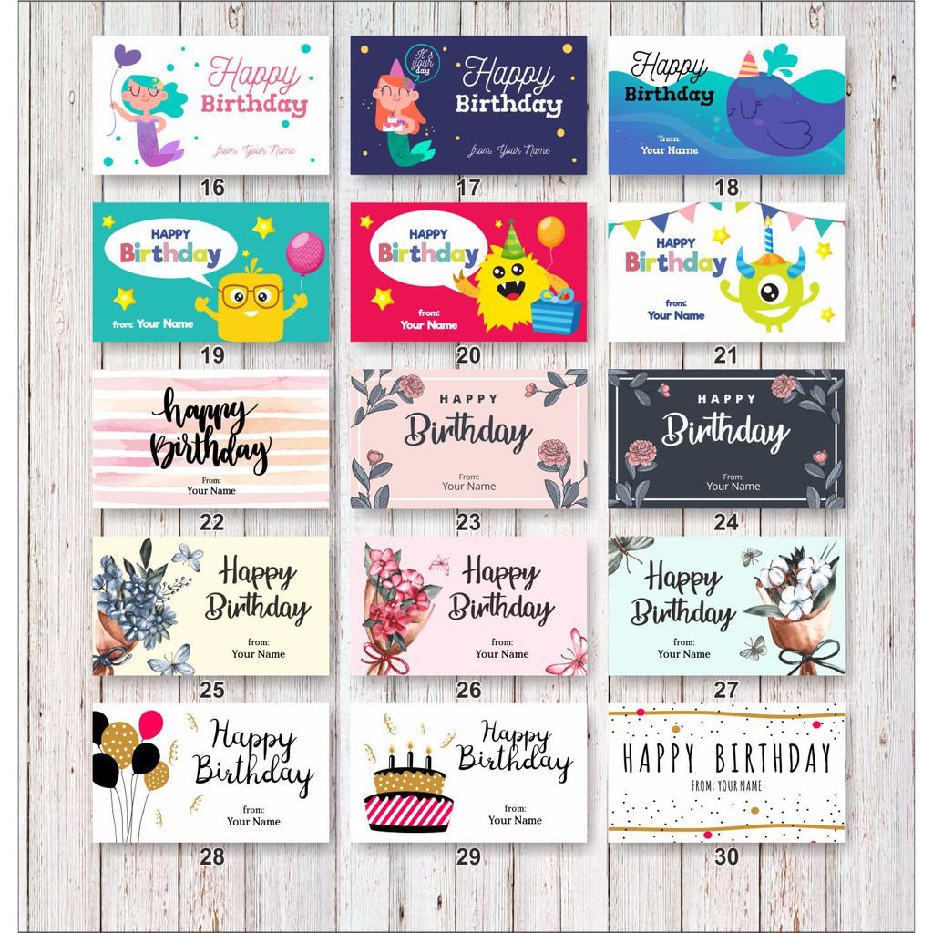 Desain Kartu Ucapan Happy Birthday - kartu ucapan keren