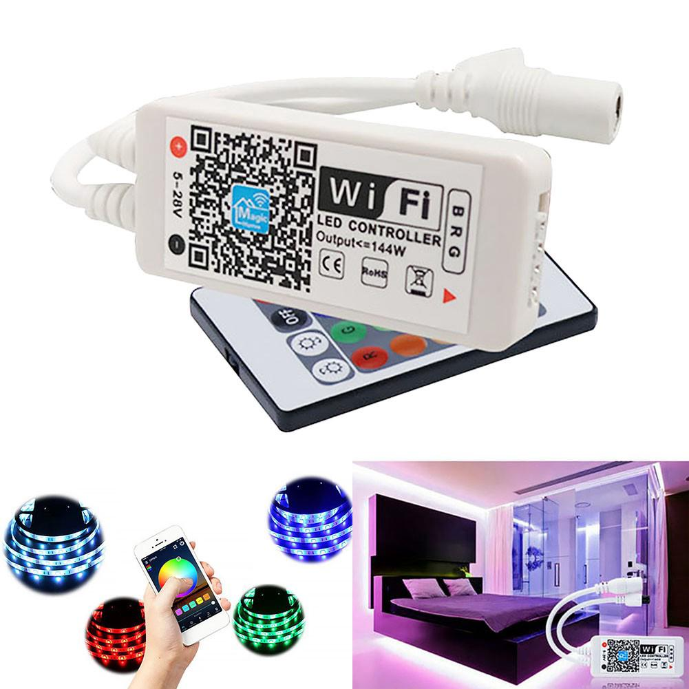the latest 69e58 a4037 Smart Wifi Controller Music Control Remote For Rgb LED Strip Light +Ir