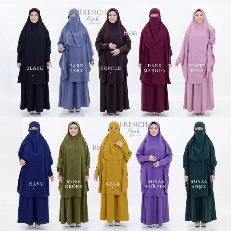 French Khimar Set - Setelan rok muslim - set cadar Khimar