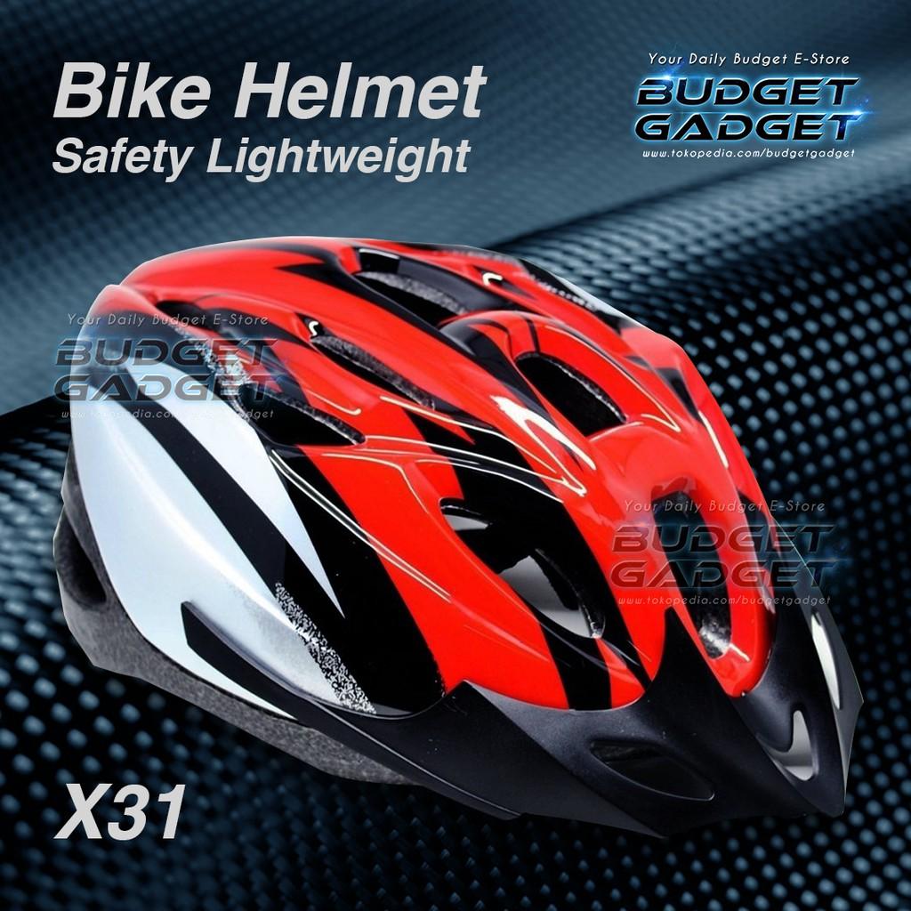 Best Seller Helm Sepeda Cycling Helmet Eps Foam Pvc Shell X31 Dengan Backlight Shopee Indonesia