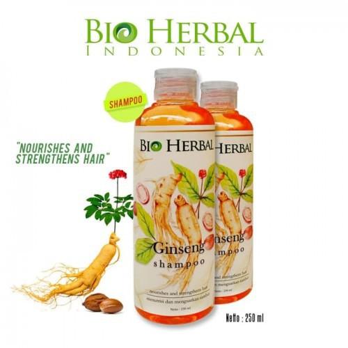 Shampo Sampo Penumbuh Perawatan Rambut Rontok Botak Herbal Ekstrak Ginseng BPOM-1
