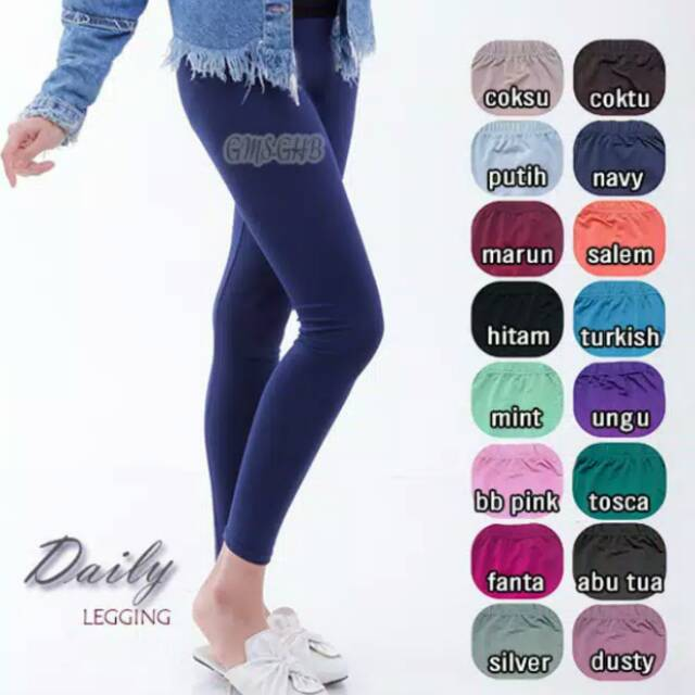Legging Bahan Jersey Shopee Indonesia