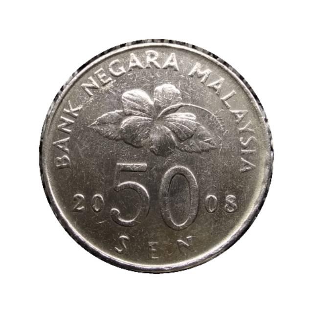 Koin Malaysia 50 Sen Layangan 2008