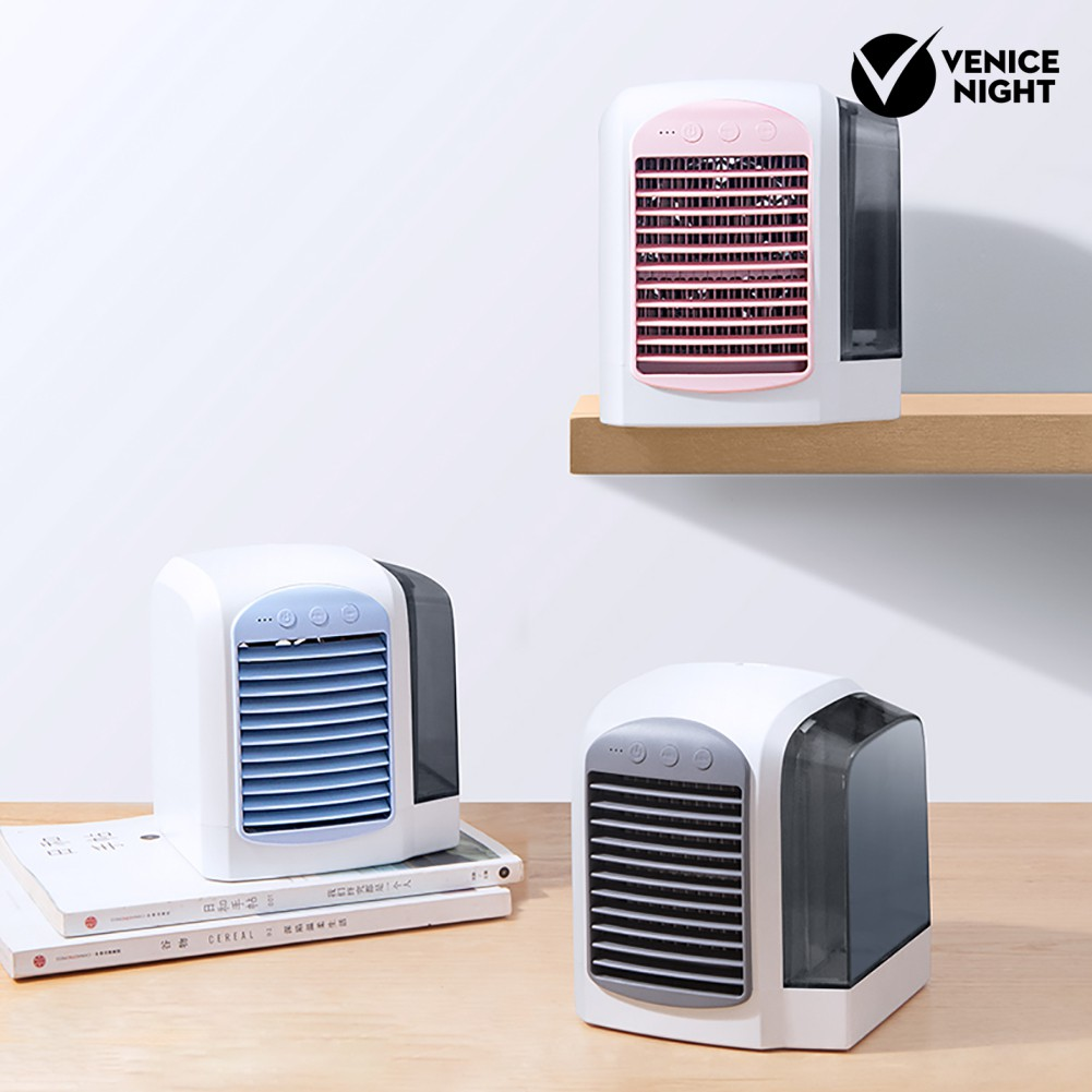 Veni Portable Mini Air Conditioner Usb Mute Office Home Cooling Fan Cooler Humidifier Shopee Indonesia