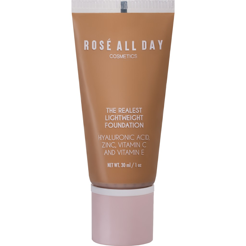 Rosé All Day The Realest Lightweight Foundation in Caramel