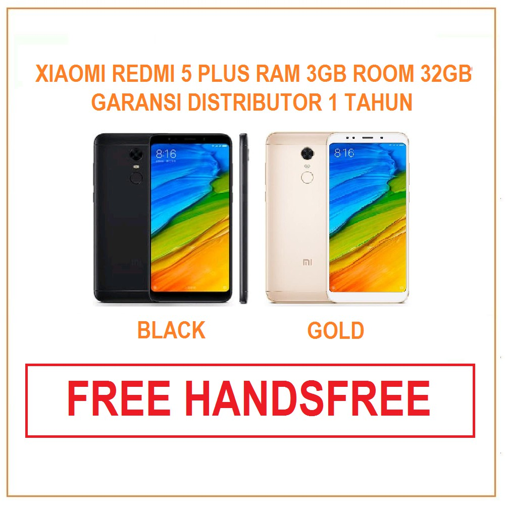 Xiaomi Redmi 5 Plus Ram 4gb Internal 64gb Garansi Distributor 1 Mi Pro 4 128 Tahun Shopee Indonesia