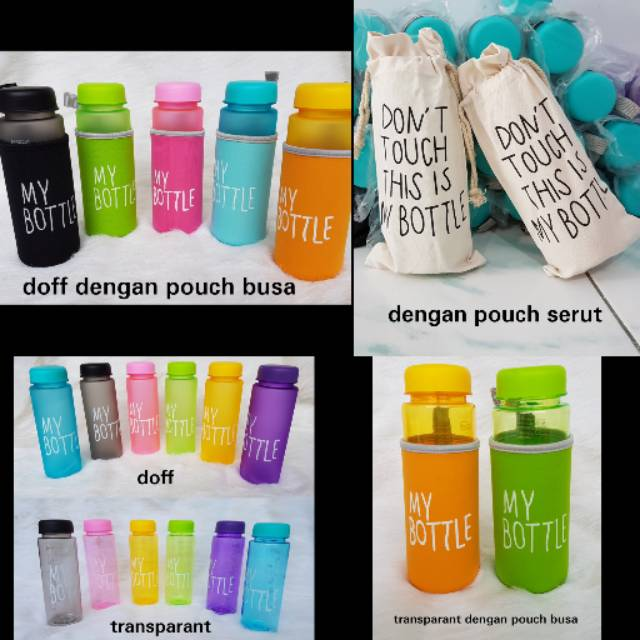 PROMO TURUN HARGA FREE NEW POUCH / Realpic My Bottle BENING + POUCH / Infused water / Botol tritan | Shopee Indonesia
