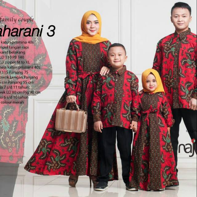 D04 Sarimbit modern couple muslim seragam keluarga gamis ibu,koko ayah,koko anak murah branded. | Shopee Indonesia