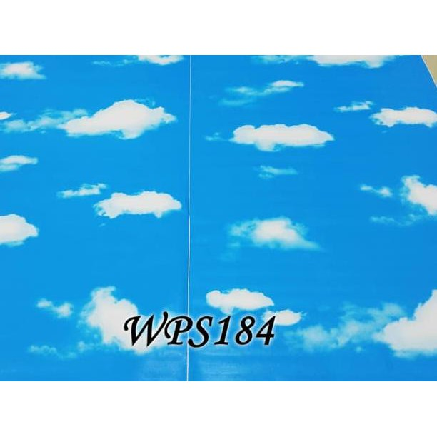 Baru Wps184 Only Cloud Wallpaper Dinding Walpaper Stiker Dinding