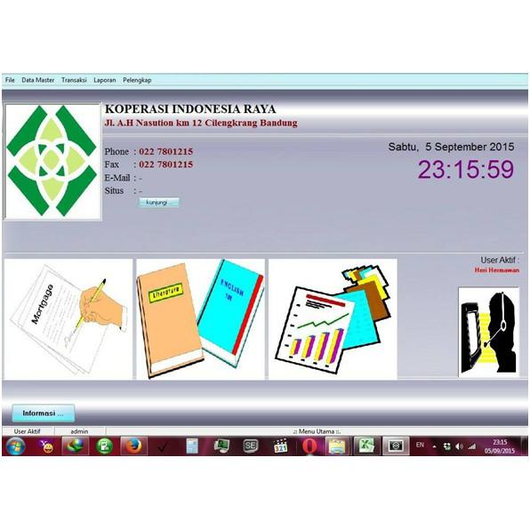 Software Aplikasi Koperasi Simpan Pinjam Original Full Versi Shopee Indonesia