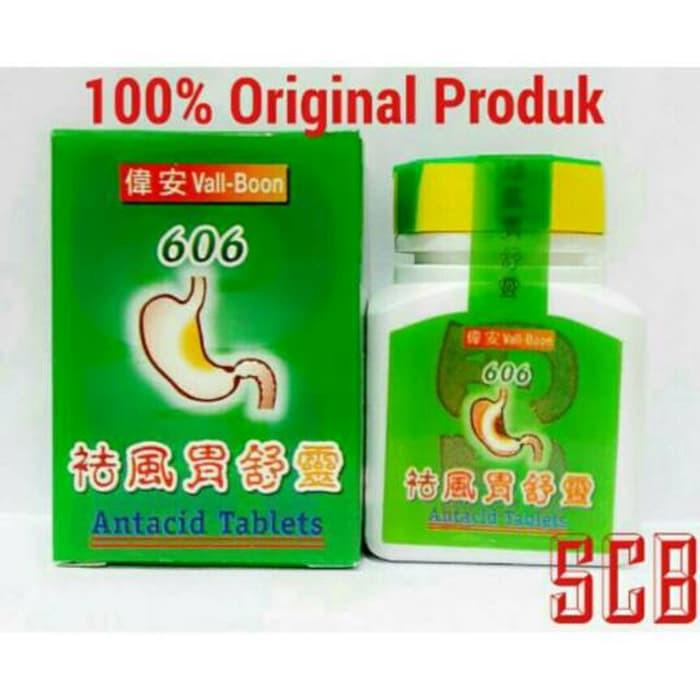 Vall Boon 606 Antacid Tablets - Obat Maag, Nyeri & Asam Lambung Herbal