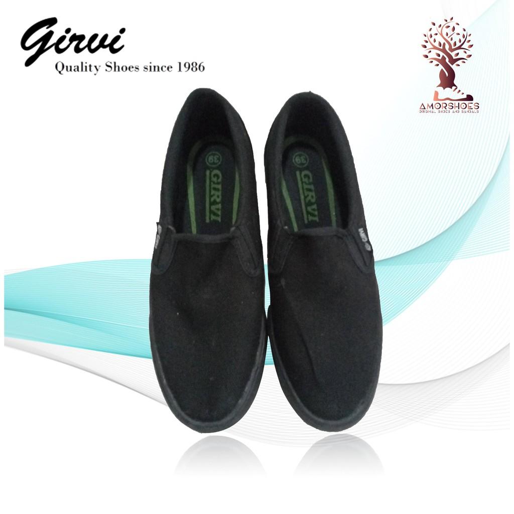 Sepatu Girvi Original Kanvas Hitam  e6fc053c88