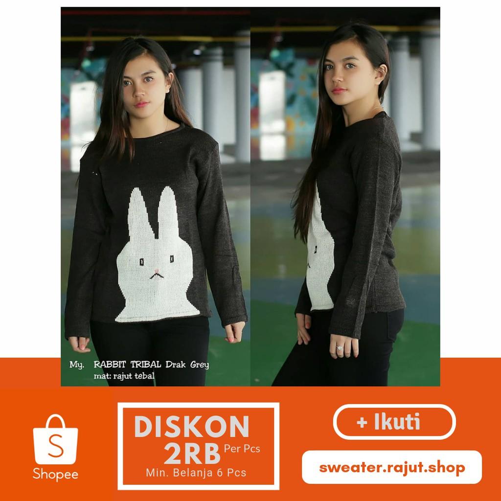 Popcorn Sweater Rajut Wanita Baju Roundhand Secker Sj0015 Atasan Cewek Shopee Indonesia
