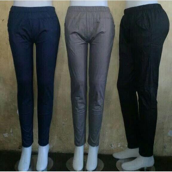Celana Legging Bahan Katun Strech Shopee Indonesia