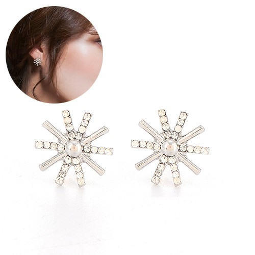 LRC Anting Tusuk Silver Color Diamond Decorated Hollow Out Earrings. Source · Anting Tusuk pearl