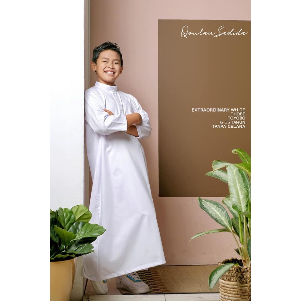 Thobe/Jubah Anak Extraordinary White by Qoulan Sadida