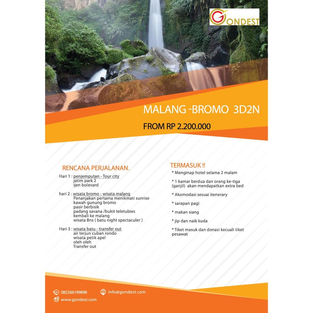 Tour Malang Bromo 3d2n 2018 Shopee Indonesia City Batu Dan