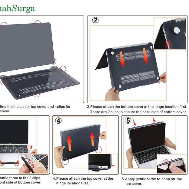 Case For MacBook Air 13 Inch A1932 2018 Protective Snap On Cover Keyboard Skin