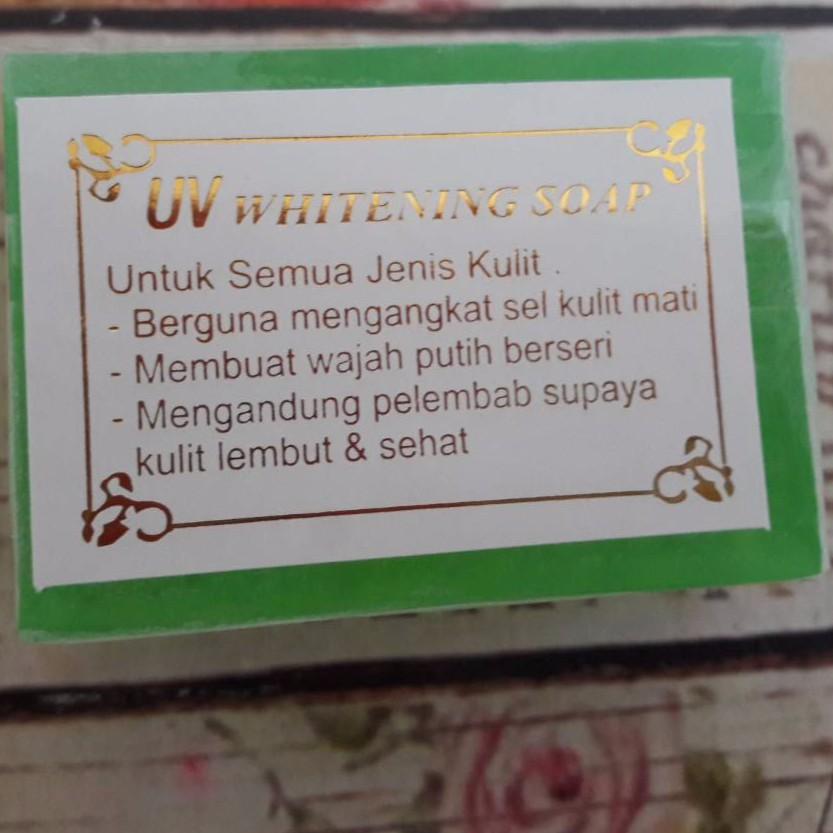 Ready Sabun Uv Whitening Uv Whitening Soap Hijau Bpom Shopee Indonesia
