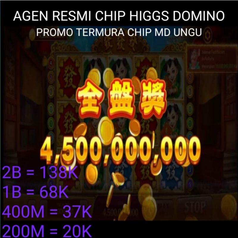PROMO AGEN RESMI CHIP MD UNGU HIGGS DOMINO MURAH