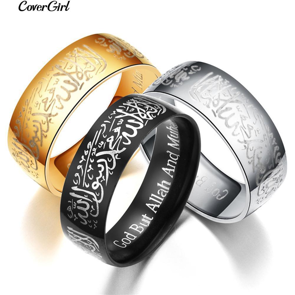 Cincin Titanium Steel Hias Berlian Imitasi Tauhid Kaligrafi Arab Kalung Perak Motif Ukiran Naga 07373 Syahadat Pria Wanita Muslim Couple Shopee Indonesia