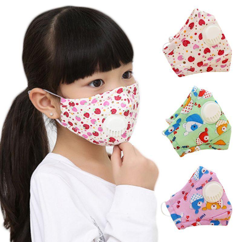 Kartun Musim Anak Debu Katun Bahan Anti Motif Washable Masker Mulut Dingin Untuk