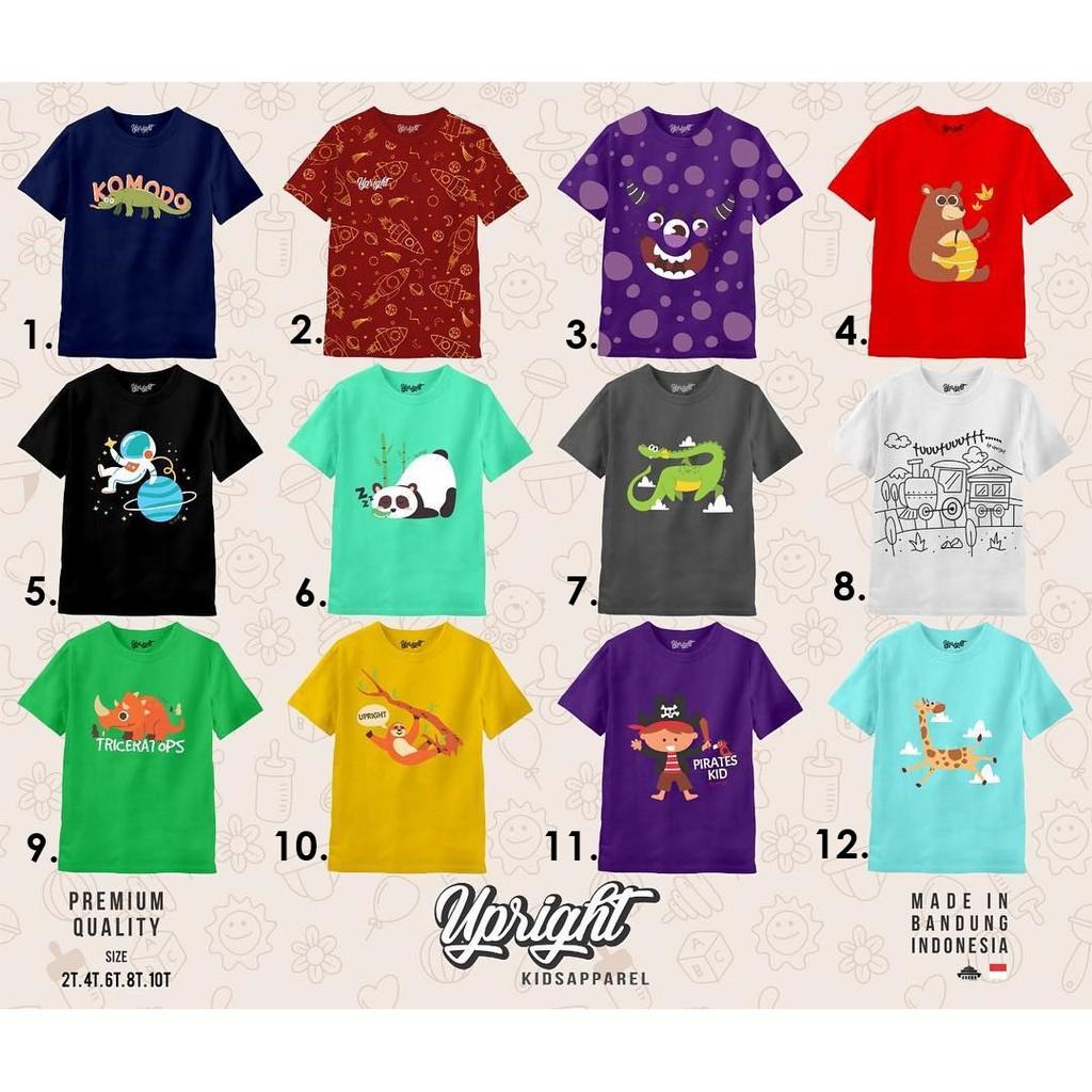 Upright Kids Junior Science Double Stitch Kaos Anak Laki Katalog Tangan Pendek Branded Shopee Indonesia