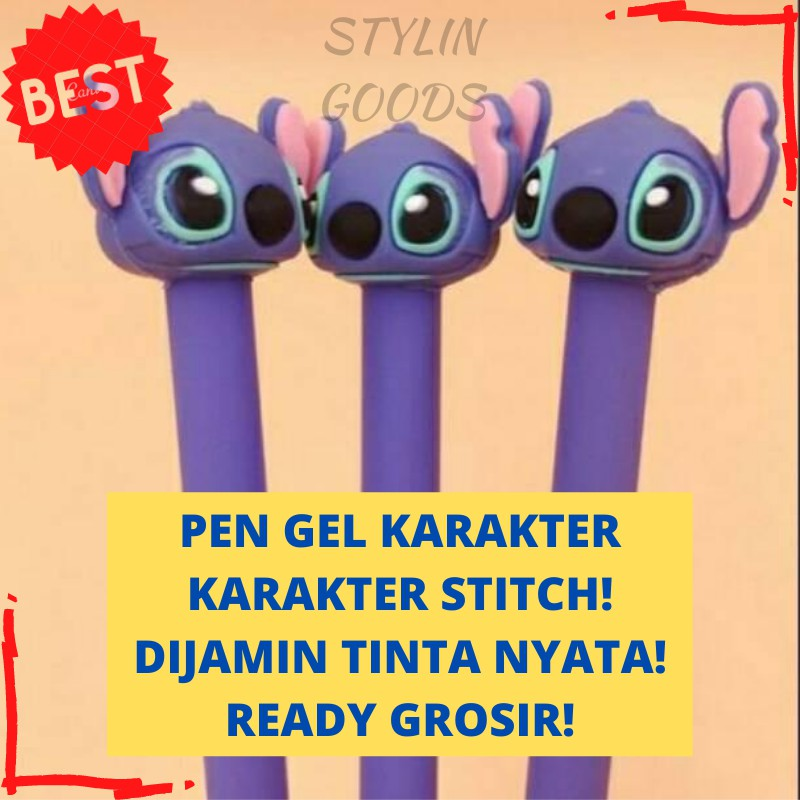 Pen Gel Karakter Kartun Animasi Lilo And Stitch Pulpen Lucu Bolpen Unik Pena Imut Ready Cod Shopee Indonesia