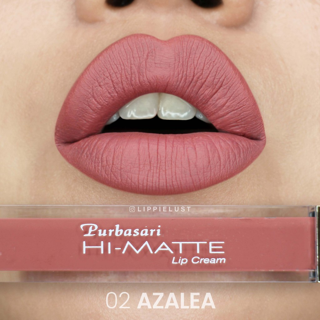 Purbasari Hi Matte Lip Cream 02 Azalea 405898 Shopee Indonesia Silky Girl Junkie 09 Rounge 405016