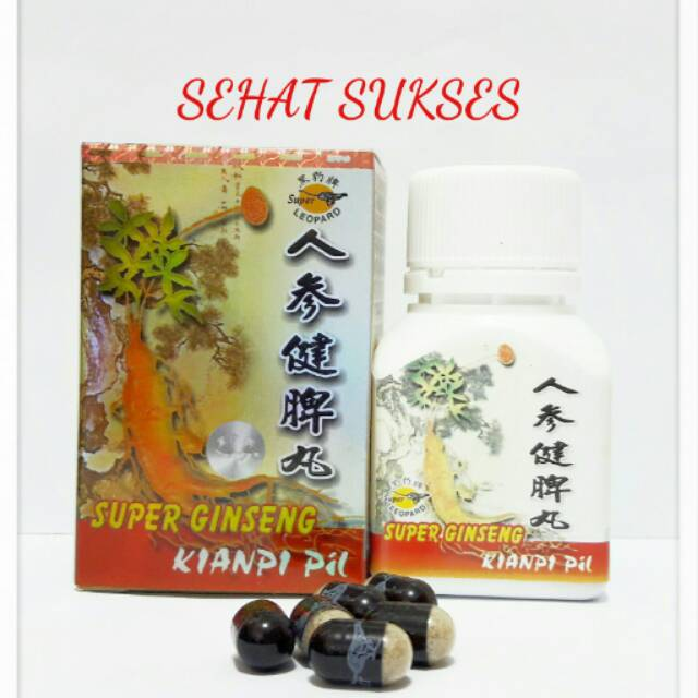 Super Ginseng Kianpi Pil isi 30(Super Leopard) -Obat Nafsu Makan Herbal | Shopee Indonesia