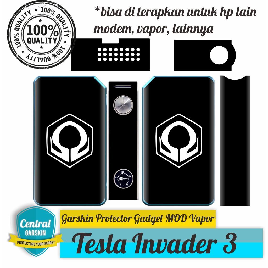 Garskin Tesla Invader 3 Hexohm Black Shopee Indonesia