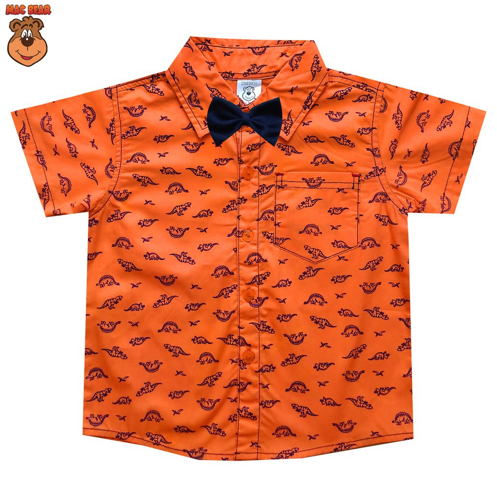 Macbear Kids Baju Anak Kemeja Full Print Dino Exclusive Size 4 6 Macbee Dress Stripy Beetle Orange Shopee Indonesia