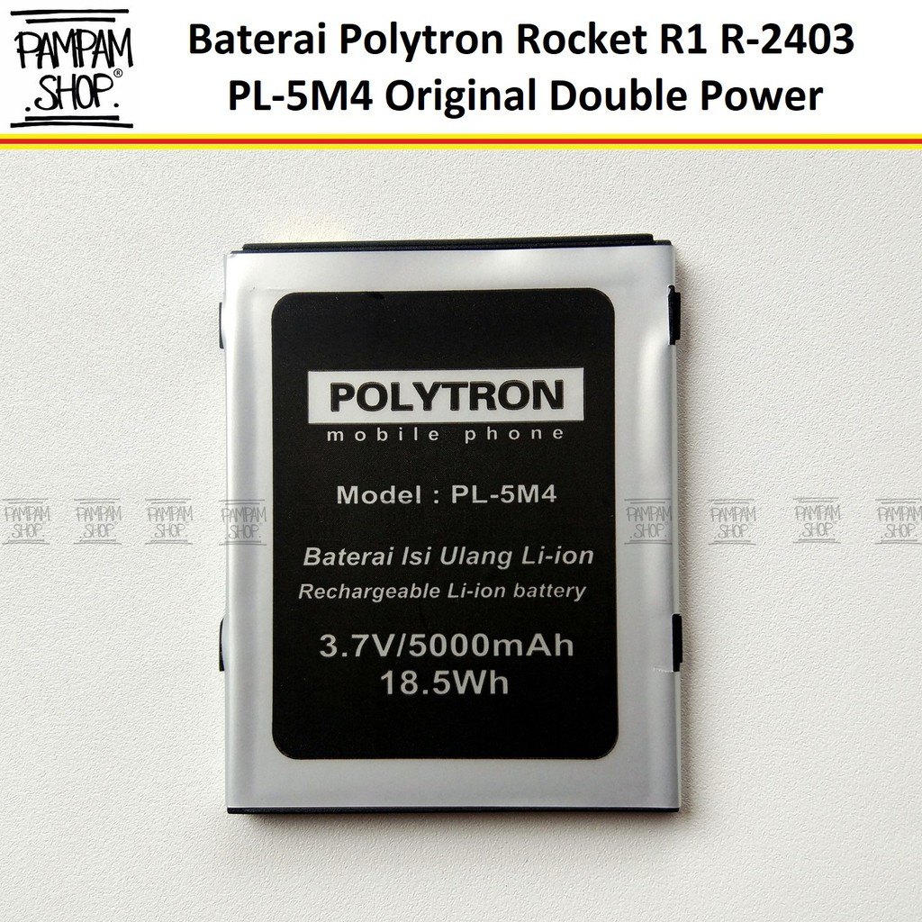 Baterai Handphone Polytron Rocket R1 R2403 PL-5M4 PL5M4 Double Power Original Batre Batrai Politron | Shopee Indonesia