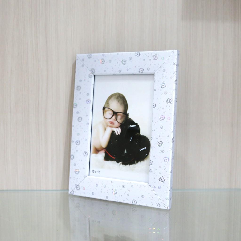 Frame Pigura Bingkai Poto Foto Ukuran 4r Warna Shopee Indonesia Figura Minimalis 10x15cm Hitam Putih