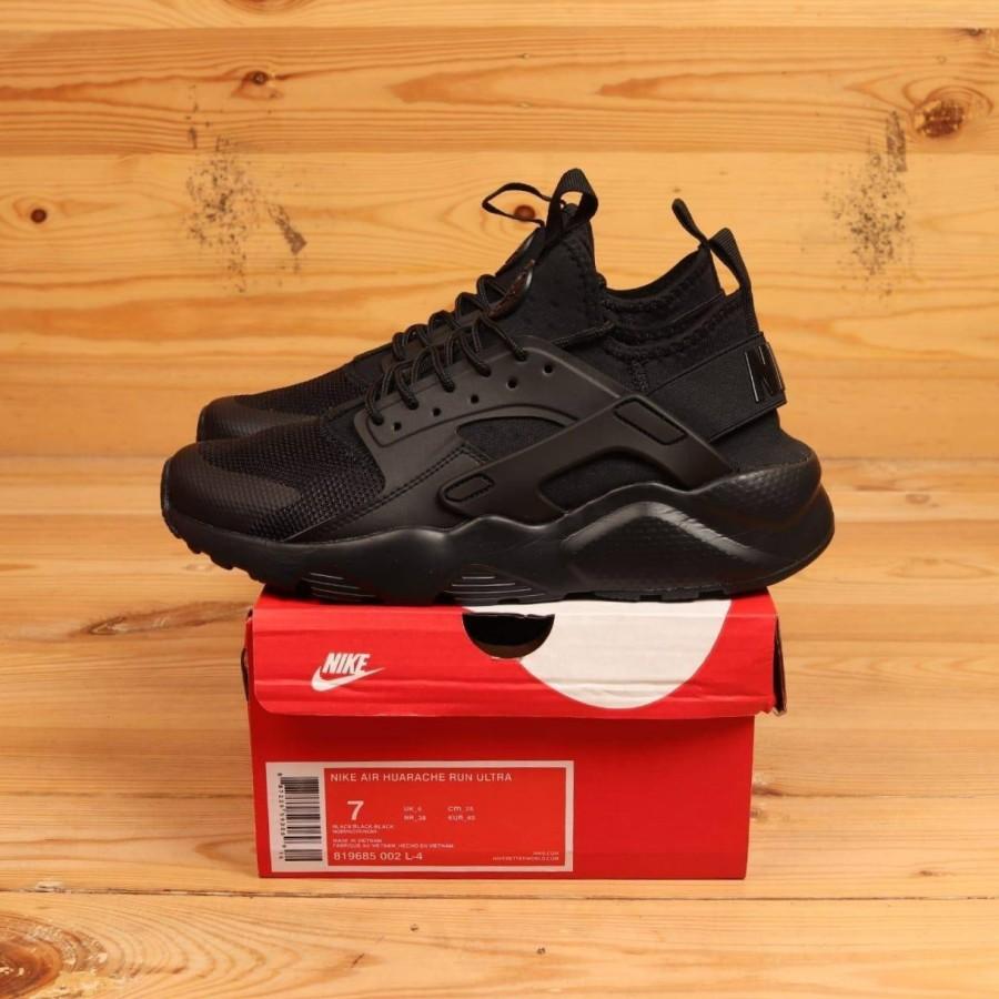 Nike Air Huarache Run Ultra Triple Black 819685-002 BNIB Perfect Kicks