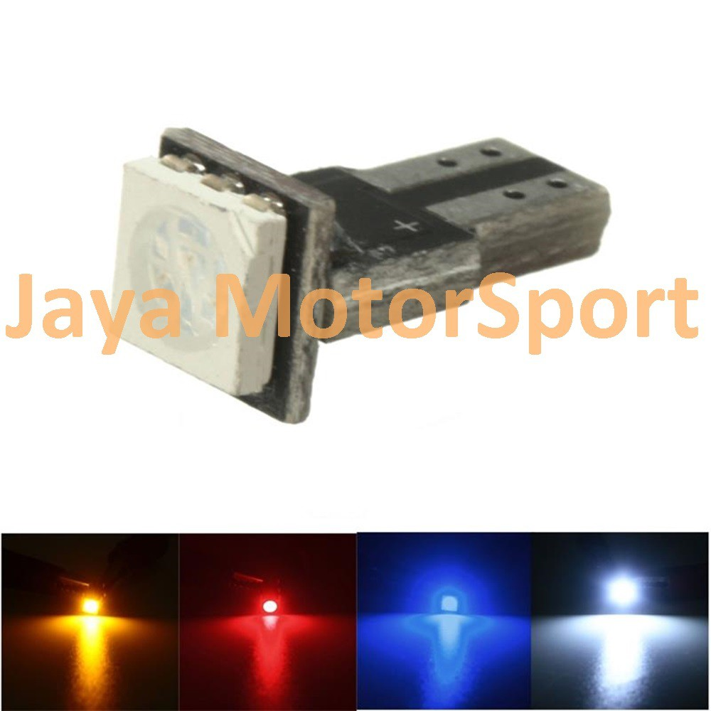 Lampu Led Mobil Motor Speedometer Dashboard T5 Pcb 1 Smd Putih Blue Shopee Indonesia