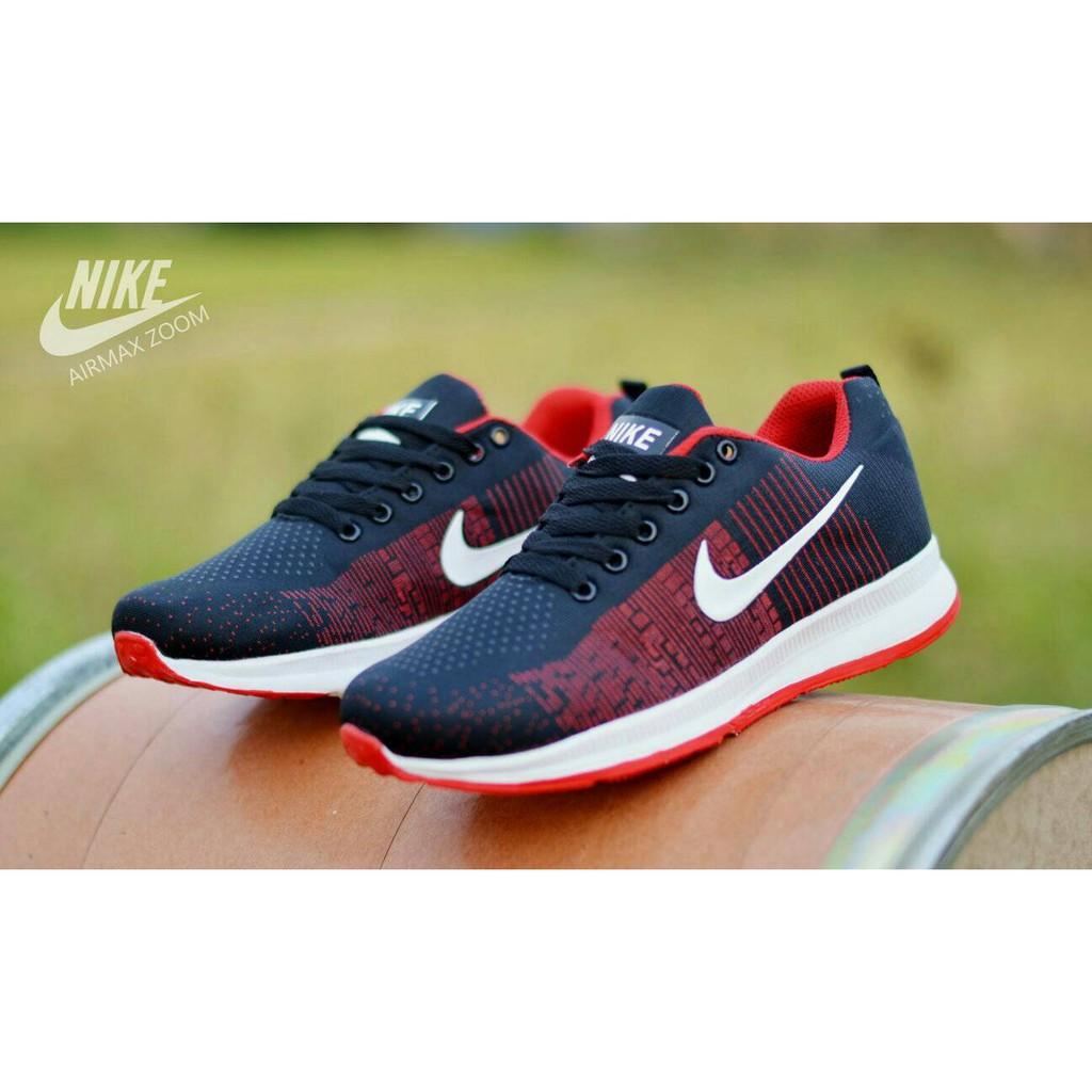Sepatu Nike Badminton Hitam Putih Pria Wanita Airmax Store Running Futsal  Sekolah Kuliah Lari Sport  b4ae5f11eb