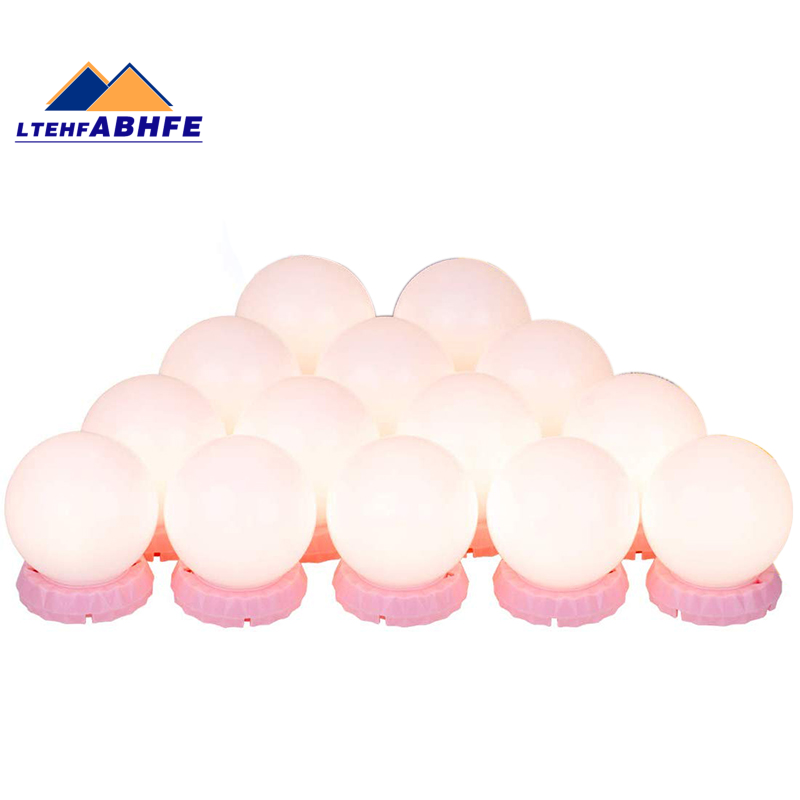 Vanity Lights Led Vanity Mirror Lights With 14 Adjustable And Dimmable Led Bulbs Vanity Light For Makeup Vanity Lights Stick On For Bathroom And Dressing Room Pink Shopee Indonesia