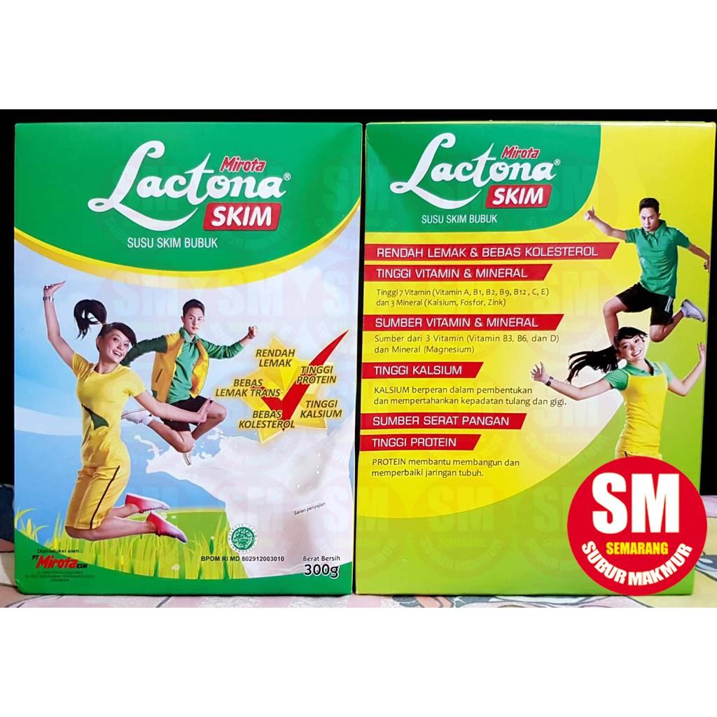 Susu Bubuk Lactona Skim 300g Shopee Indonesia Uht Ultra Mimi 125 Ml 1 Karton Isi 40 Pcs