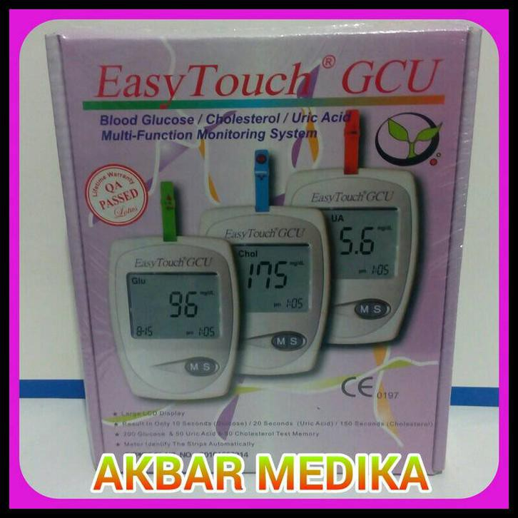 Easy Touch Gcu Alat Tes Gula Darah Kolesterol Dan Asam Urat