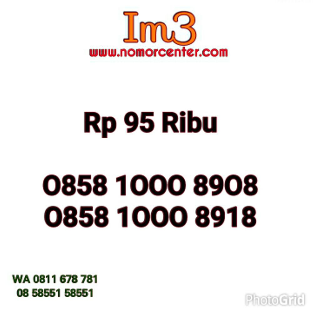 nomor Cantik Indosat Im3 Seri Ribuan 1000 0858 1000 8908 Murah hoki ON3 453 | Shopee Indonesia