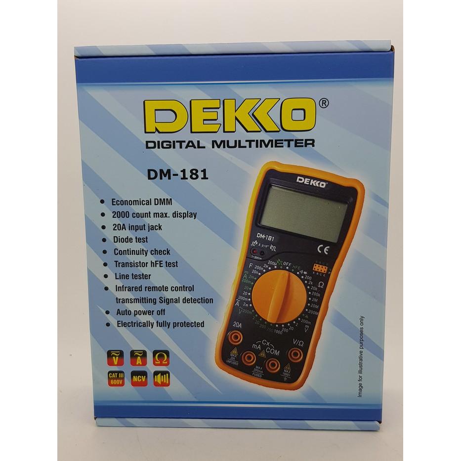 Digital Multitester Dekko Dm 133d Shopee Indonesia Avo Meter High Quality